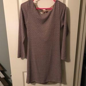 Shimmer long sleeve dress